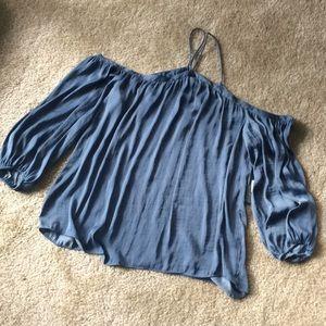 Vince Camuto blue cold shoulder NWT sz large
